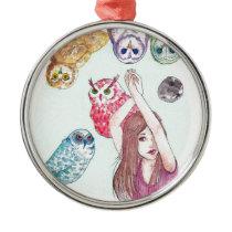 Owls Metal Ornament