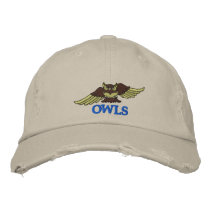 OWLS monogram-able embroidered hat