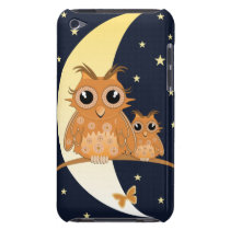 Owls, Moonlight and Stars, cartoon iPod Touch Case-Mate Case