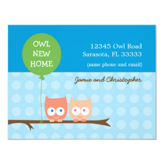 Owls Moving Card Invite