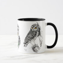 Owls Mug in ink