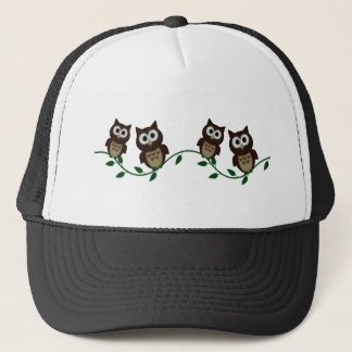 owls night trucker hat