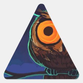 OWL'S OF OPALSANIA. TRIANGLE STICKER