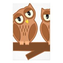 Owls on a Branch Stationery