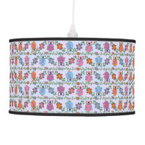 Owls on a Limb Hanging Lamp