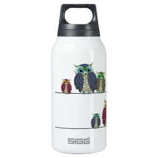 Owls on Wire Insulated Water Bottle