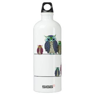 Owls on Wire Water Bottle