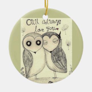 Owls -Ornament Ceramic Ornament
