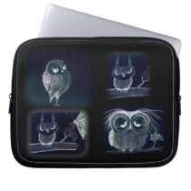 Owls, Owls, Owls - Neoprene Laptop Sleeve 10 inch