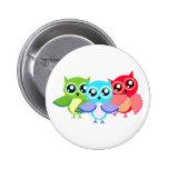 Owls owls pinback buttons