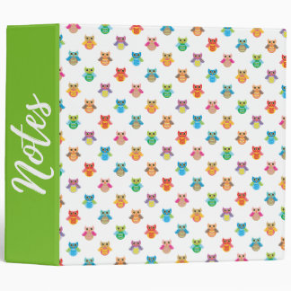 Owls Pattern Ring Binder