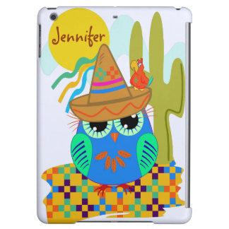 owls, patterns, custom, sombrero, cute, name, bird iPad air covers
