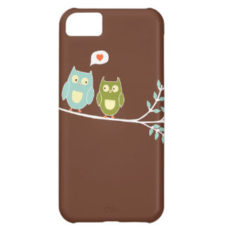 owls perched on branch iphone 5 case