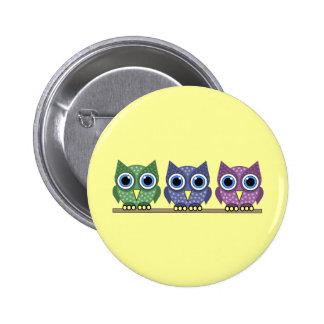 owls pinback button