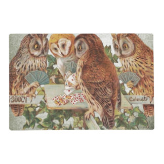 Owls playing placemat