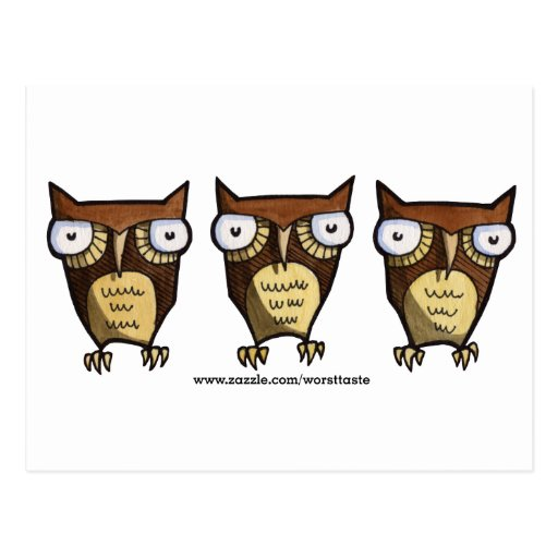 owls post card
