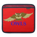 OWLS red i-pod sleeve Sleeve For iPads