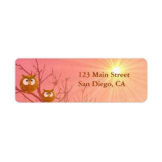 Owls Return Address Labels template