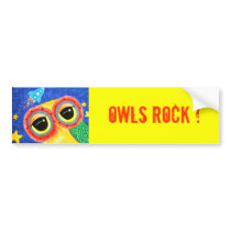 Owls Rock Bumper Sticker