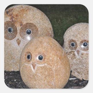 Owls Rock Hand Sculpture Stickers