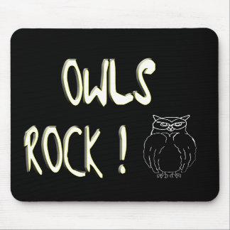 Owls Rock! Mousepad