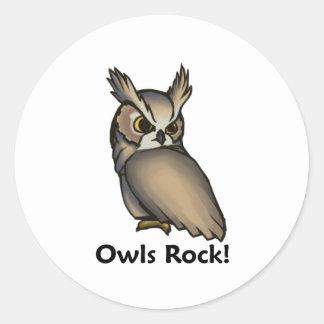 Owls Rock! Classic Round Sticker
