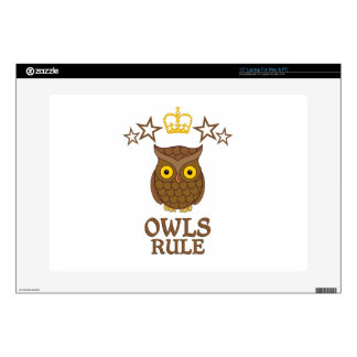 """Owls Rule 15"""" Laptop Decal"""