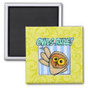 owls rule magnet