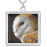 OWLS SILVER PLATED NECKLACE