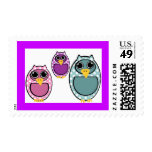 Owls Stamp