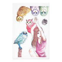 Owls Stationery