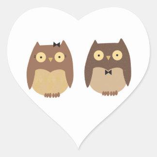 Owls Heart Sticker