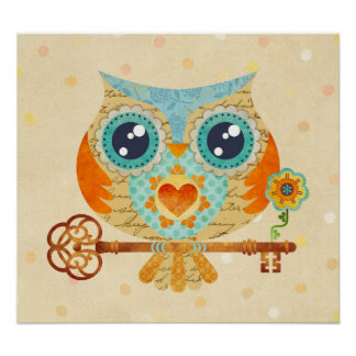 Owl's Summer Love Letters Poster