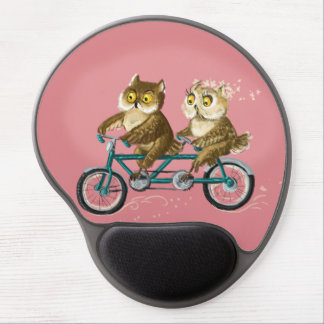 Owls tandem double-bike gel mouse pad