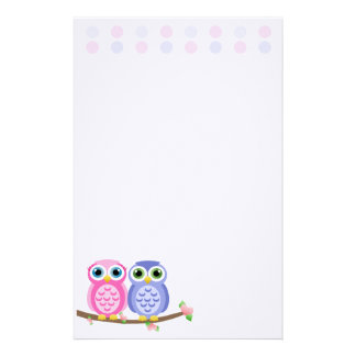 Owls (Today's Best Award) Stationery