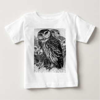 Owls, vintage engraving baby T-Shirt
