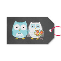 Owls Wedding Bride and Groom Gift Tags