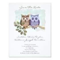 Owls Wedding Card