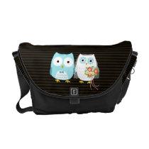 Owls Wedding Couple - Fun Bride and Groom Design Messenger Bag
