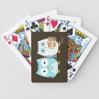 Owls Wedding - Cute Bride and Groom Card Decks