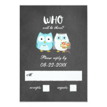 Owls Wedding RSVP Response Card