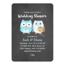 Owls Wedding Shower Invitation