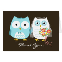 Owls Wedding Thank You Card