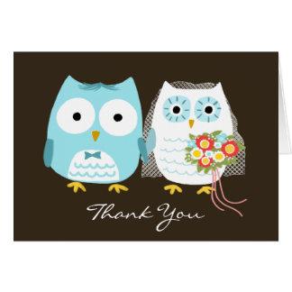 Owls Wedding Thank You Greeting Cards