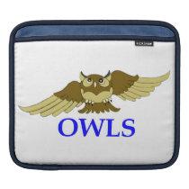 OWLS white i-pad sleeve