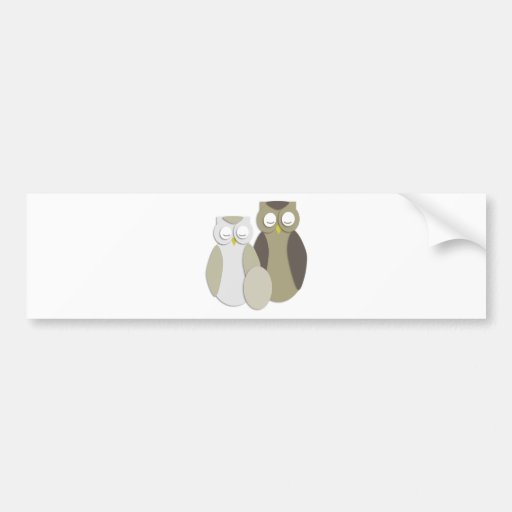 Owls with egg car bumper sticker