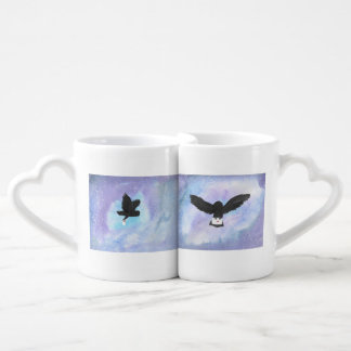 Owls With Mail Coffee Mug Set