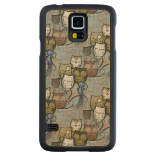 Owls Carved® Maple Galaxy S5 Case