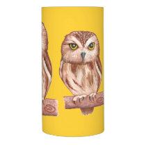Owls Wrapped LED Candle