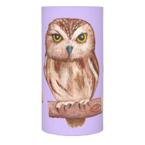 Owls Wrapped LED Candle